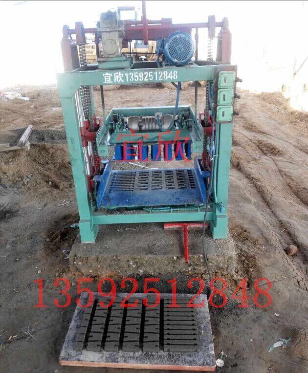 两年前濮阳小型水泥垫块机打垫块砖现场
